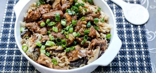 Mushrooms & Pork Ribs Claypot Rice 1