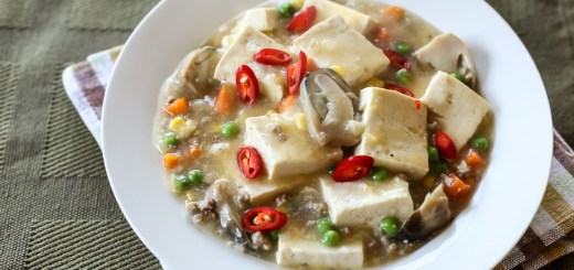 Soft Tofu, Mince and Peas 1