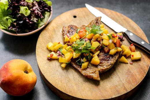Grilled Pork with Peach Salsa 2