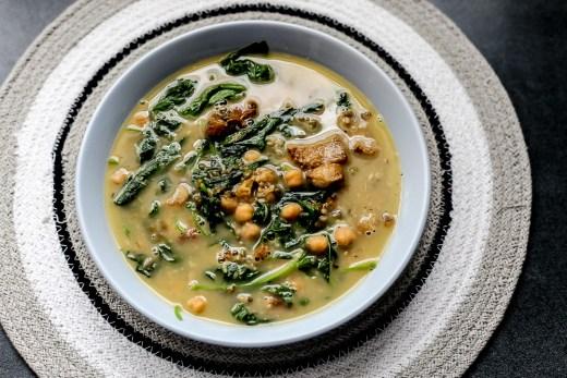 Mung Bean, Chickpeas and Bitter Gourd Shoots Soup 1
