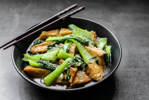 Stir Fried Bok Choy and Tofu 1