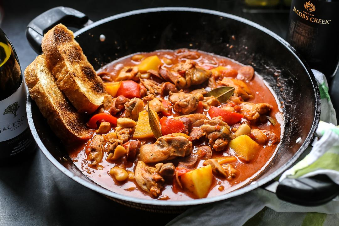 Spanish Chicken Chorizo And Potato Stew