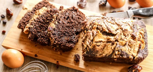 Chocolate Dates and Raisin Peanut Butter Swirl Bread 2