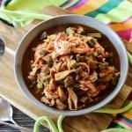 Smothered Okra with Shrimp & Crabmeat 1