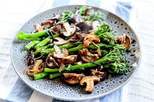 Broccolini Mushroom Stir Fry 1