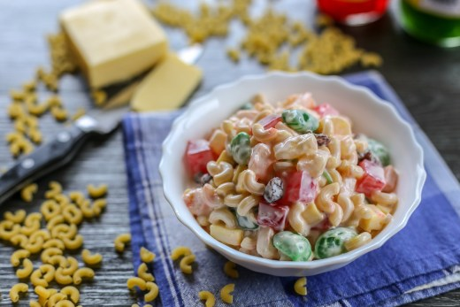 Filipino Sweet Macaroni Salad 1