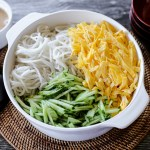 Cold Noodles With Sesame Sauce, Egg and Cucumbers 1