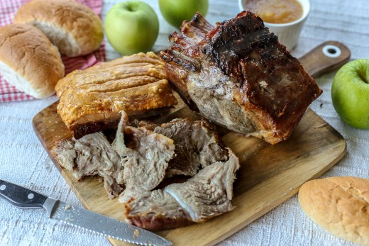 Pork Roast and Crackling Sandwich with Apple Sauce 1