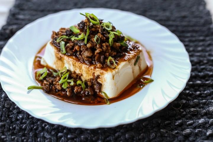Steamed Tofu with Ground Pork 1