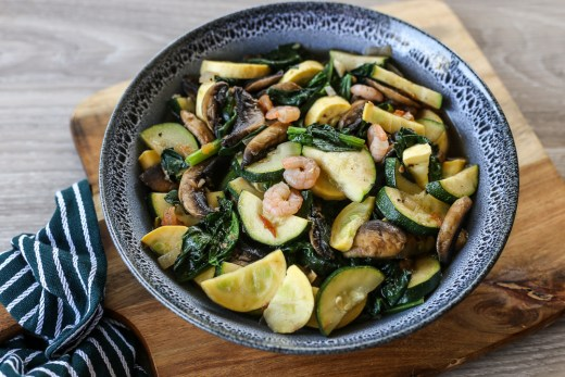 Sautéed Courgettes, Spinach and Mushrooms 1