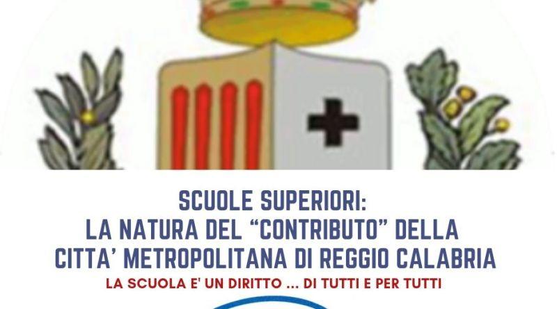 """Scuole Superiori: la natura del """"Contributo"""" della Città Metropolitana di Reggio Calabria."""