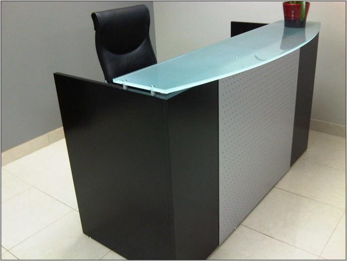 Black Gloss Reception Desk Desk Home Design Ideas