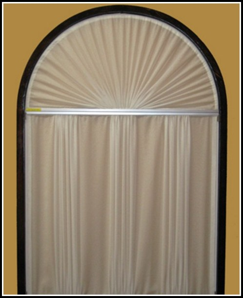 Curtain Rods Arched Window Treatment