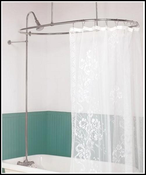 Clawfoot Tub Shower Curtain Rod Diy Curtains Home Design Ideas A8D7ZyenOg31189