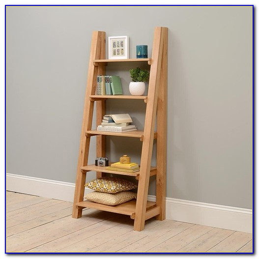 Reclaimed Pine Bookcase With Ladder Bookcase Home