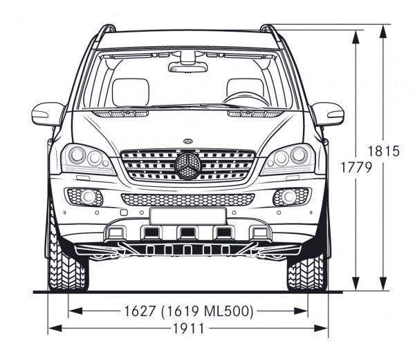 Mercedes Benz M Klasse W 164 Abmessungen Amp Technische
