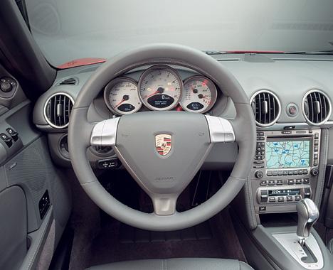 Foto Bild Porsche Boxster S Cockpit Angurtende