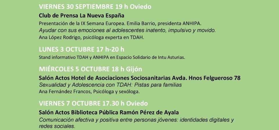 IX Semana Europea de Sensibilización del TDAH