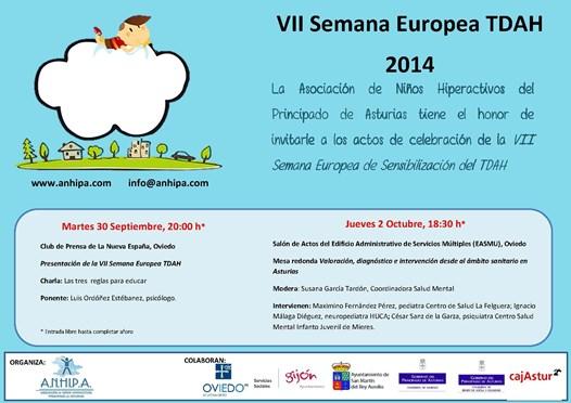 VII Semana Europea Sensibilización TDAH