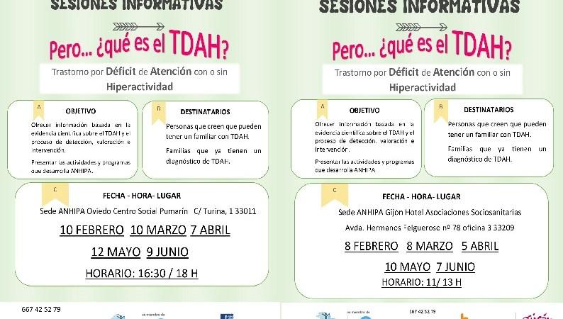 Sesiones informativas sobre TDAH en el mes de Mayo