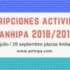 Abierto el plazo de inscripción actividades 2018/2019