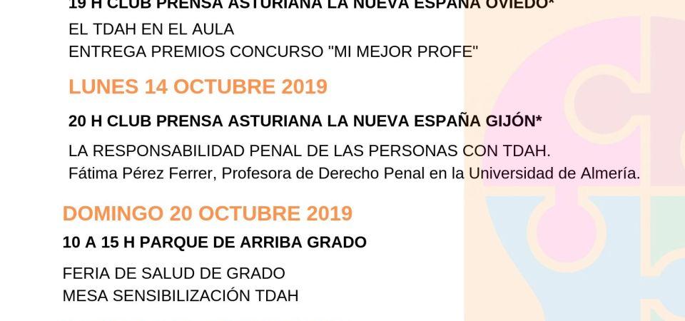 MES EUROPEO SENSIBILIZACIÓN TDAH. 26 OCTUBRE DÍA TDAH EN ESPAÑA