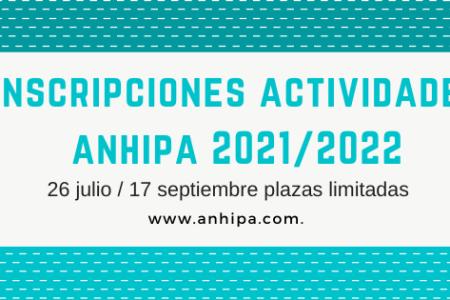 PREINSCRIPCIÓN ACTIVIDADES ANHIPA CURSO 2021/2022