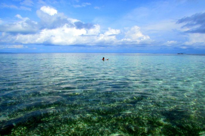 Waters in Naupan island, one of the fabulous Togean Islands.