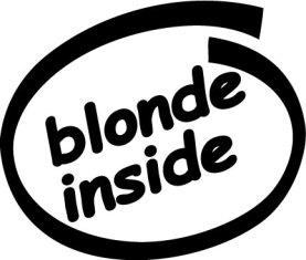 blonde inside