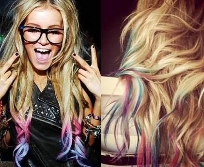 Tizas para el pelo o Hair chalk: Mechas temporales en casa