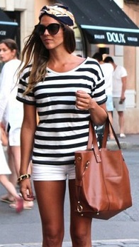 rayas blancas y negras camiseta