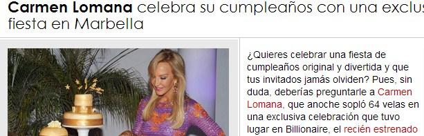 El día que Carmen Lomana me mintió