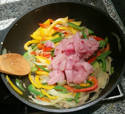 wok pollo teriyaki receta setas y verdura