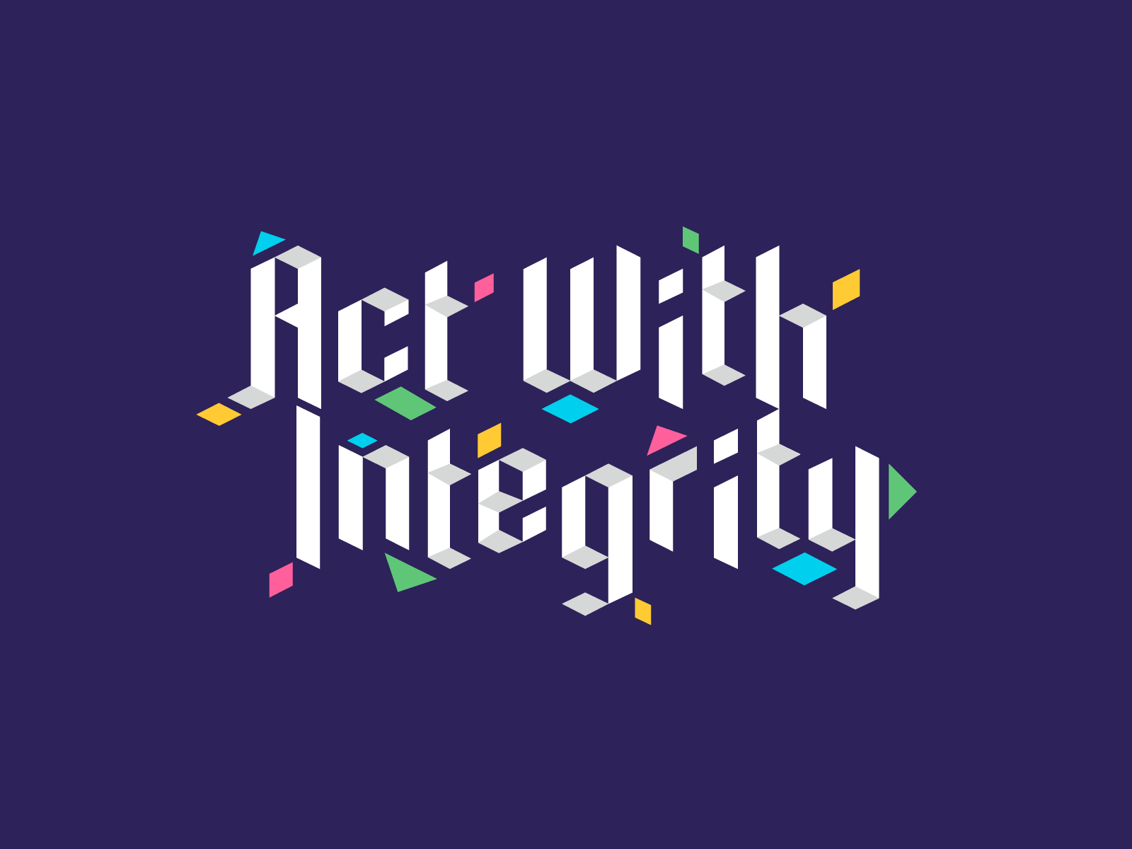 bigcommerce values office mural type design act with integrity