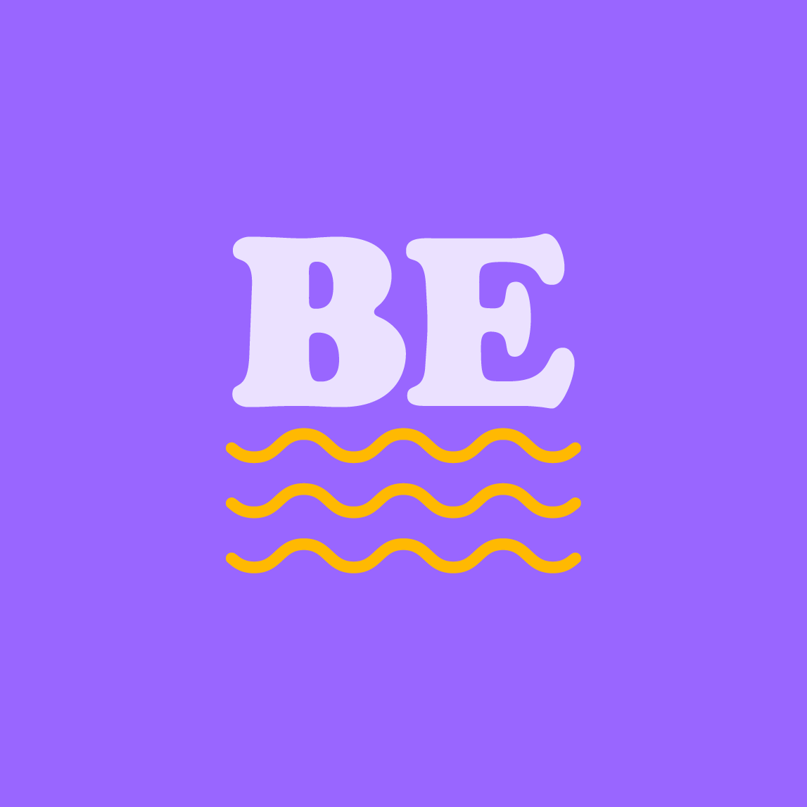 Bempowered abbreviated logo mark lilac and yellow