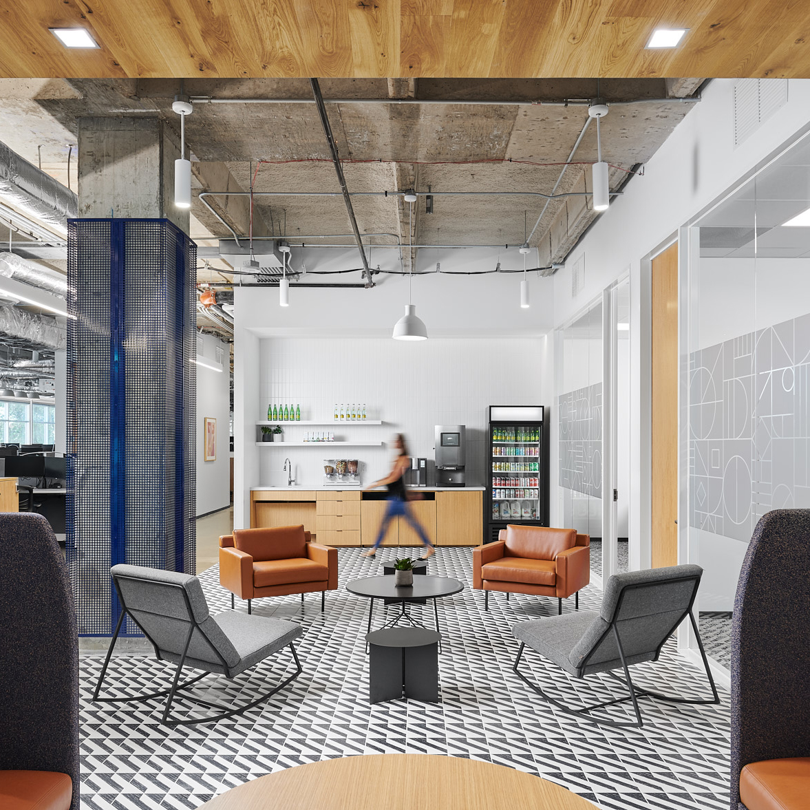 corporate office design break area bigcommerce headquarters