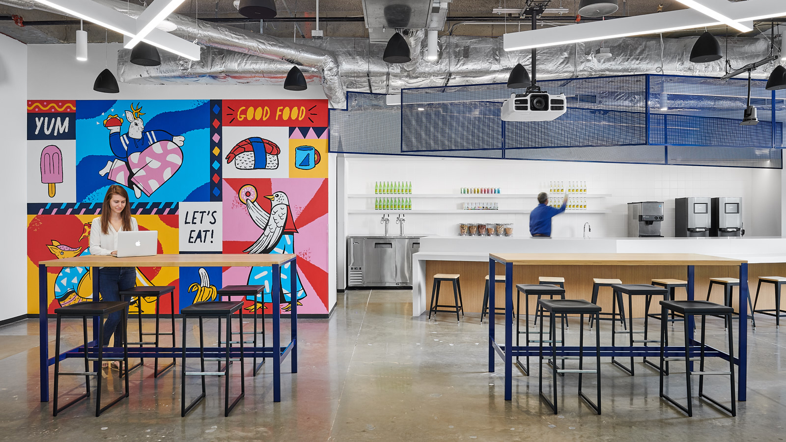 corporate office design bigcommerce headquarters kitchen