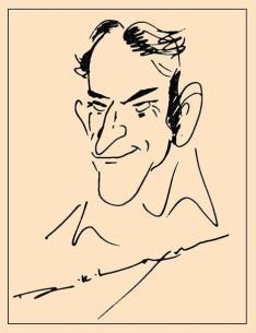 Chalasani Prasada Rao, a caricature R K Laxman