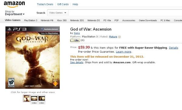 teaser tráiler y arte de God of War: Ascension para PS3