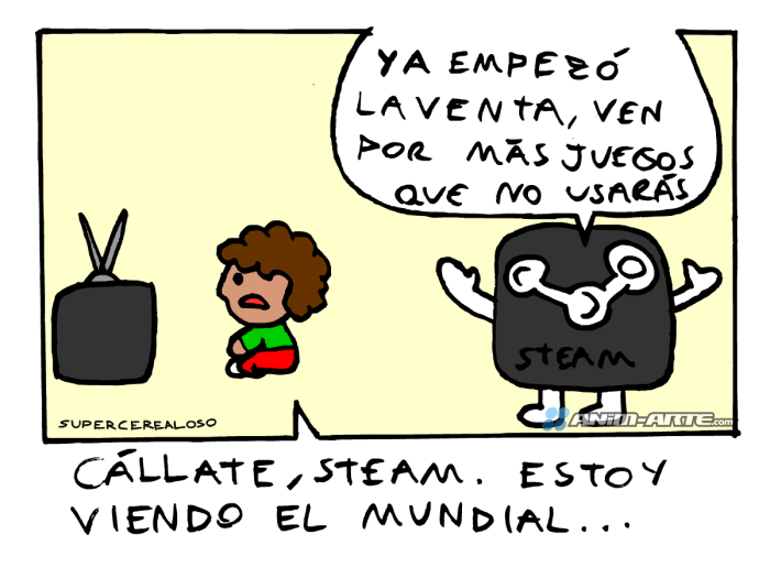 El peor enemigo de Steam | Web cómic