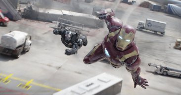 War Machine y Iron Man en Capitán América: Civil War.