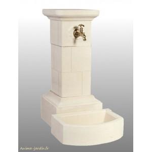 fontaine borne en pierre reconstituee 95 cm grandon achat vente ref 090 200 forme carre