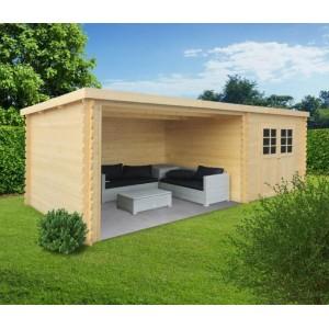 abri de jardin en bois rohan toit plat emboitable 2 portes solid pas cher