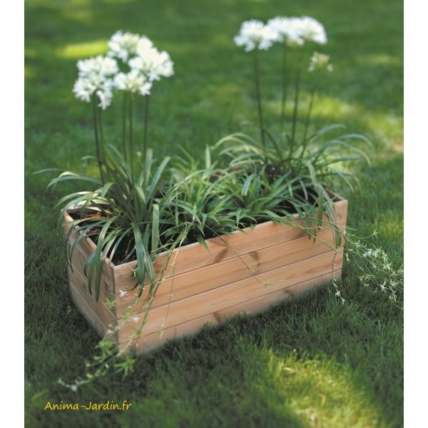 bois autoclave bac a fleurs plantes