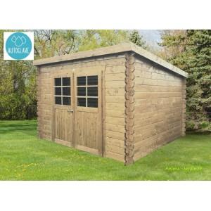 abri de jardin en bois traite autoclave 28mm brest 2 portes solid pas cher achat vente