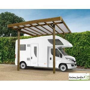 Grand Carport Bois Autoclave 4 Metres Abri Pour Grands Vehicules Camping Car Solid Pas Cher