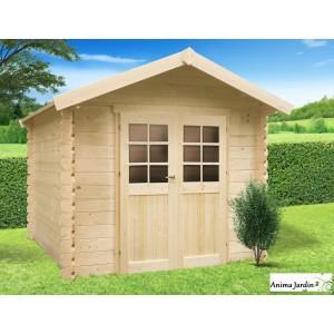 abri de jardin en bois 19mm cabanne gera 5m 2 portes solid pas cher achat vente