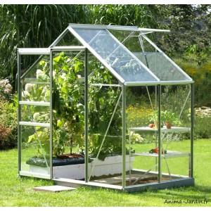 serre jardin aluminium venus 2500 en verre trempe 2 50m2 lams achat