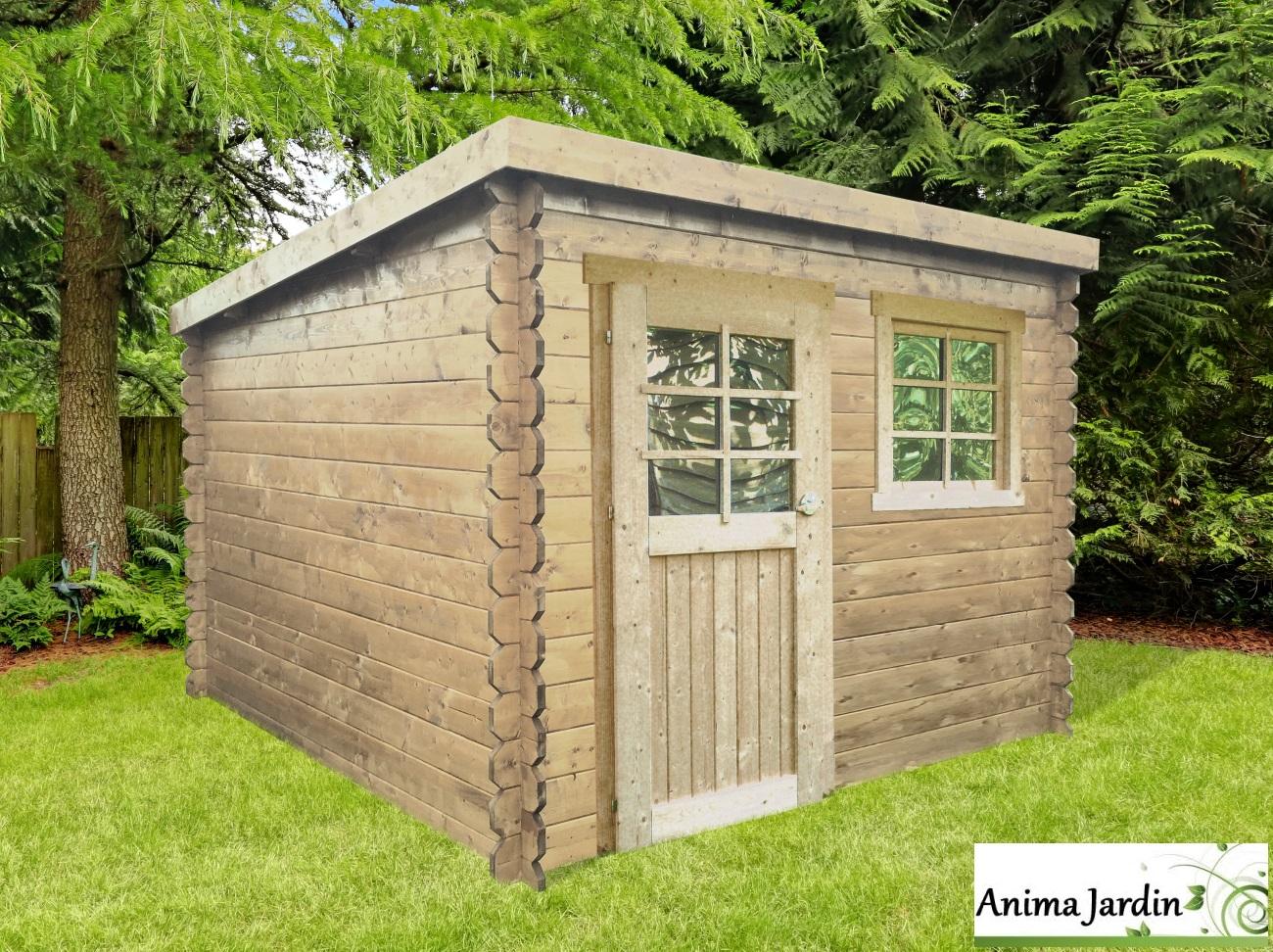 Abri De Jardin En Bois 28mm Nevers 5m 1 Portes Chalet Toit Monopente Solid Pas Cher