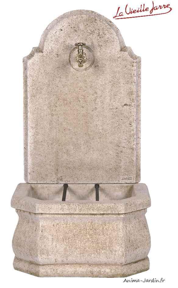 fontaine murale fronton lisse pf46 en pierre reconstituee